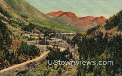 Ironton Loops, Million Dollar Highway - Misc, Colorado CO Postcard