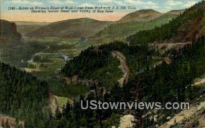 Western Slope, Wolf Creek Pass - Misc, Colorado CO Postcard
