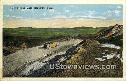Pikes Peak Auto Highway - Misc, Colorado CO Postcard