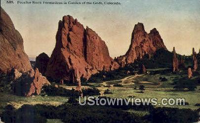 Peculiar Rock - Garden of the Gods, Colorado CO Postcard