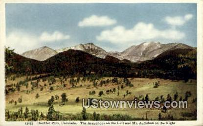 Mt. Audubon - Boulder Park, Colorado CO Postcard
