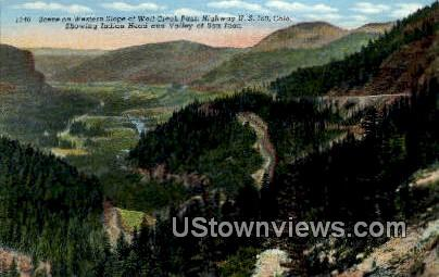 Wolf Creek Pass, Indian Head - Misc, Colorado CO Postcard