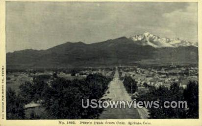 Pike's Peak - Colorado Springs Postcards, Colorado CO Postcard