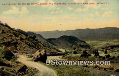 Royal Gorge, Florence - Canon City, Colorado CO Postcard