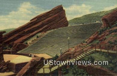 Red Rocks Theatre - Denver Mountain Parks, Colorado CO Postcard