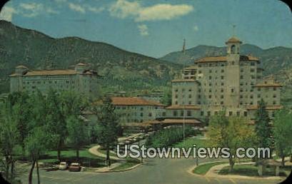 Front Vistas Broadmoor - Colorado Springs Postcards, Colorado CO Postcard
