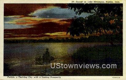 Lake Mannequa - Pueblo, Colorado CO Postcard