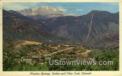 Incline, Pikes Peak - Manitou Springs, Colorado CO Postcard