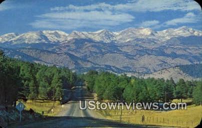 Continental Divide, Genesee Mt - Denver Mountain Parks, Colorado CO Postcard