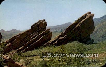 Sinking Titanic & Iceberg - Denver Mountain Parks, Colorado CO Postcard
