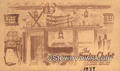 Swiss Chalet Restaurant - Colorado Springs Postcards, Colorado CO Postcard