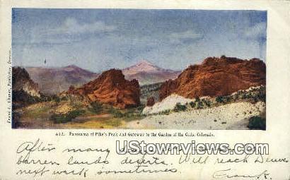 Pike's Peak - Garden of the Gods, Colorado CO Postcard