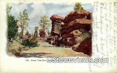 Buena Vista Drive - Garden of the Gods, Colorado CO Postcard
