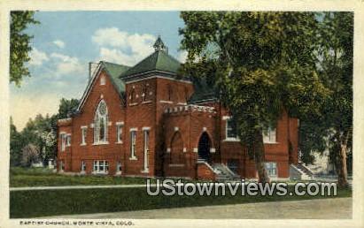 Baptist Church - Monte Vista, Colorado CO Postcard