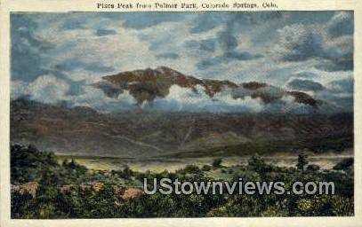 Pikes Peak, Palmer Park - Colorado Springs Postcards, Colorado CO Postcard