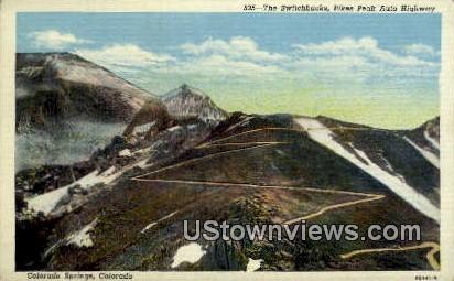 Switchbacks - Colorado Springs Postcards, Colorado CO Postcard