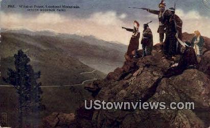 Wildcat Point, Lookout Mountain - Denver Mountain Parks, Colorado CO Postcard
