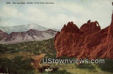 Seal & Bear, Garden of the Gods - Colorado CO Postcard