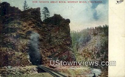 Sphinx Head Rock - Moffat Road, Colorado CO Postcard