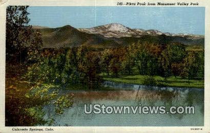 Monument Valley Park - Colorado Springs Postcards, Colorado CO Postcard