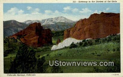 Gateway, Garden of the Gods - Colorado Springs Postcards, Colorado CO Postcard