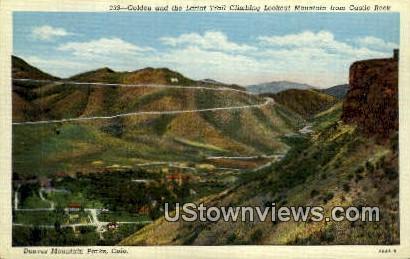 Golden & Lariat Trail - Denver Mountain Parks, Colorado CO Postcard