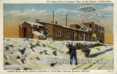 Summit House, Cog Road - Colorado Springs Postcards, Colorado CO Postcard