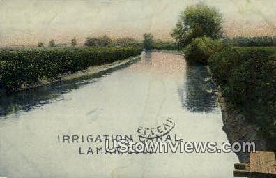 Irrigation Canal - Lamar, Colorado CO Postcard