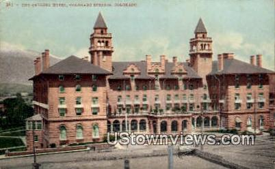 Antler's Hotel - Colorado Springs Postcards, Colorado CO Postcard