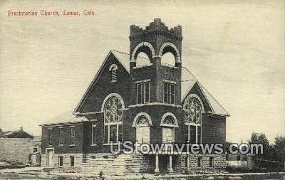 Presbyterian Church - Lamar, Colorado CO Postcard