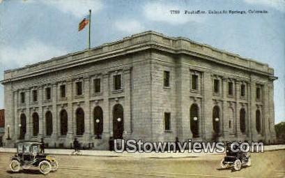 Post Office - Colorado Springs Postcards, Colorado CO Postcard