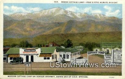Rodeo Cottage Camp - Colorado Springs Postcards, Colorado CO Postcard