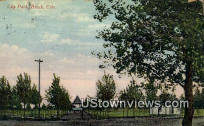 City Park - Brush, Colorado CO Postcard