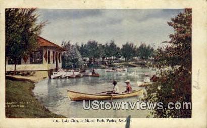 Lake Clara, Mineral Park - Pueblo, Colorado CO Postcard