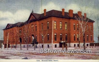Elmwood School - Denver, Colorado CO Postcard