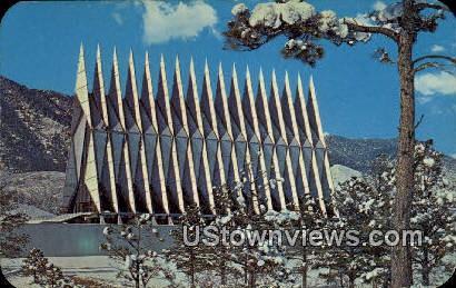 Air Force Academy Chapel - Colorado Springs Postcards, Colorado CO Postcard