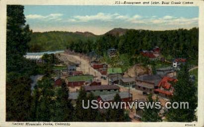 Lake, Bear Creek Canon - Denver Mountain Parks, Colorado CO Postcard