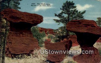 Two Mushrooms - Garden of the Gods, Colorado CO Postcard