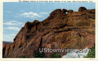 Kissing Camels - Garden of the Gods, Colorado CO Postcard