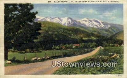 Baldy Mountains - Greenhorn Mountain Range, Colorado CO Postcard