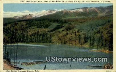 Blue Lakes, Cuchara Valley - San Isabel National Forest, Colorado CO Postcard