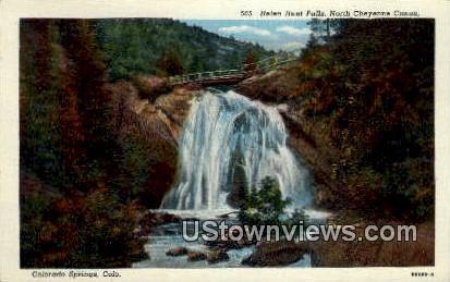 Helen Hunt Falls - Colorado Springs Postcards, Colorado CO Postcard