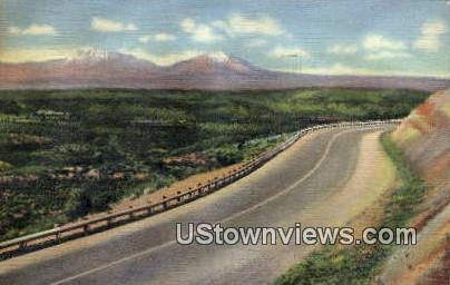 Raton Pass, Spanish Peaks - Colorado CO Postcard