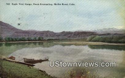 Eagle Nest Range - Moffat Road, Colorado CO Postcard