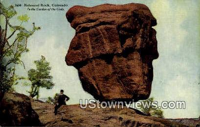 Balance Rock - Garden of the Gods, Colorado CO Postcard