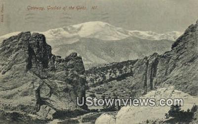 Gateway, Garden of the Gods - Colorado CO Postcard