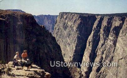 Black Canyon of the Gunnison River - National Monument, Colorado CO Postcard