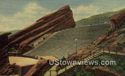 Red Rock Theatre - Denver Mountain Parks, Colorado CO Postcard