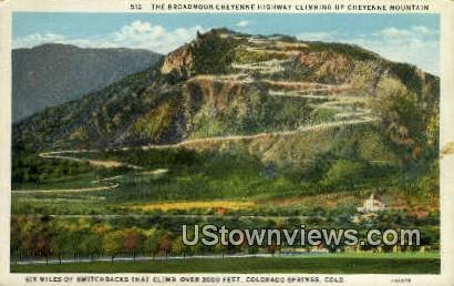 Cheyenne Mountain - Colorado Springs Postcards, Colorado CO Postcard