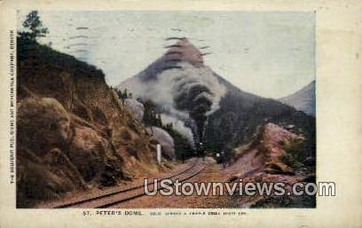 St. Peter's Dome - Cripple Creek, Colorado CO Postcard